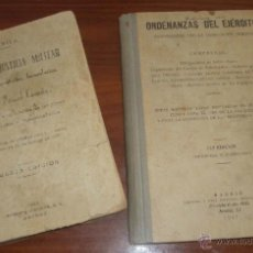 Militaria: 2 OBRAS MILITAR: CÓDIGO DE JUSTICIA MILITAR (1938) Y ORDENANZAS DEL EJÉRCITO (1947). GUERRA CIVIL.. Lote 46126851