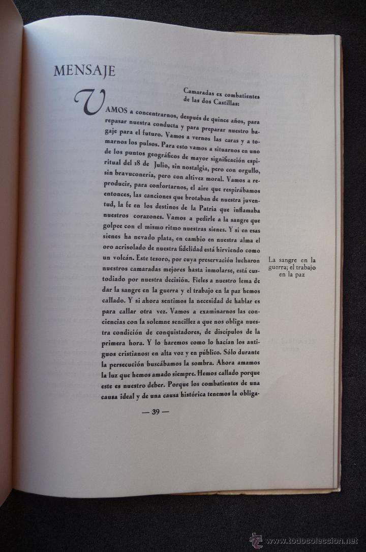 Militaria: (JX-1864)ALTO DE LOS LEONES DE CASTILLA,CONCENTRACION REGIONAL DE EX-COMBATIENTES DE DOS CASTILLAS - Foto 5 - 173923449