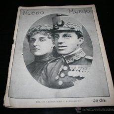 Militaria: REVISTA ANTIGUA, NUEVO MUNDO Nº 630 1906, ENA DE BATTENBERG Y ALFONSO XIII. Lote 47145547