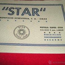 Militaria: MANUAL STAR SUPER 9 LARGO, ORIGINAL NUEVO. Lote 47294690