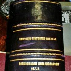 Militaria: DICCIONARIO HISTORICO MILITAR,1808-1816,ENCUADERNACION DE LUJO EN PIEL. Lote 47346219