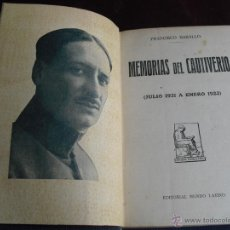 Militaria: MEMORIAS DEL CAUTIVERIO FRANCISCO BASALLO GUERRA DE MARRUECOS ANNUAL AXDIR UNICO. Lote 47831665