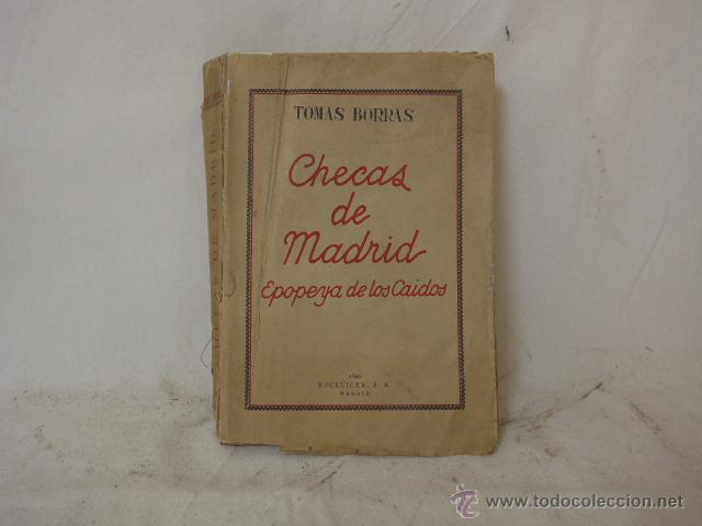 Militaria: Libro checas de Madrid, guerra civil, 1940 - Foto 1 - 48437155