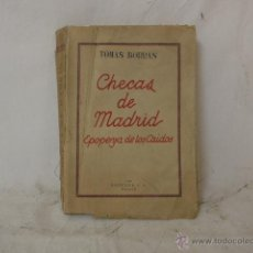 Militaria: LIBRO CHECAS DE MADRID, GUERRA CIVIL, 1940. Lote 48437155
