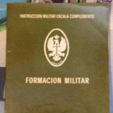 Militaria: ANTIGUO LIBRO MILITAR. FORMACIÓN MILITAR. PRIMER Y SEGUNDO CICLO. 128 PAG. Lote 48502397