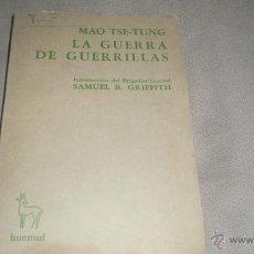 Militaria: LA GUERRA DE GUERRILLAS DE MAO TSE -TUNG .. Lote 146464982