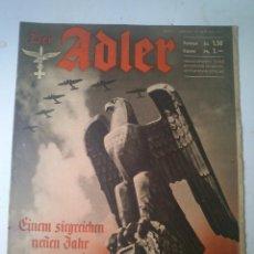 Militaria: 14 REVISTA DER ADLER DE 1941 REVISTA ALEMANA DE LA LUFTWAFFE II GUERRA MUNDIAL PROPAGANDA. Lote 49062542