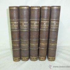 Militaria: 5 TOMOS. HISTORIA DE GUERRA CIVIL CARLISTA, DE 1868. CON LAMINAS. . Lote 51474531