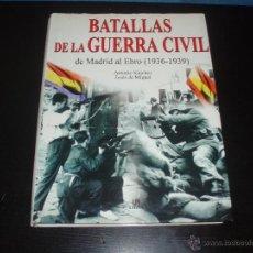 Militaria: LIBRO BATALLAS DE LA GUERRA CIVIL. Lote 49275723