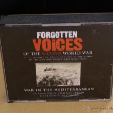Militaria: AUDIOLIBRO: FORGOTTEN VOICES OF THE SECOND WORLD WAR (WAR IN THE MEDITERRANEAN) 3 DISCOS. Lote 49292916