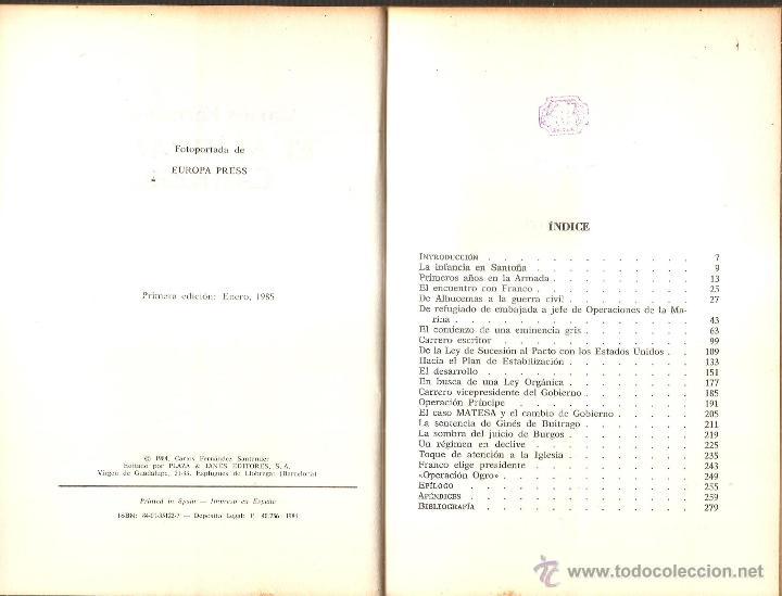 Militaria: El almirante CARRERO, 284 pgs, 1985 su biografia,carrera,Carlos Fernandez 1 edicion,fotos etc - Foto 2 - 49372395
