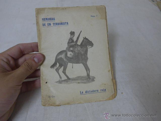 LIBRITO MEMORIAS DE UN TERRORISTA, NUM 7, CNT, LA DICTADURA ROJA. (Militar - Libros y Literatura Militar)