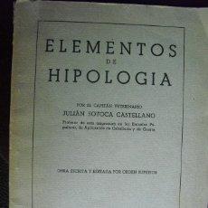 Militaria: ELEMENTOS DE HIPOLOGIA JULIAN SOTOCA ESCUELA POPULAR DE GUERRA DE LA REGION CATALANA. Lote 49665888