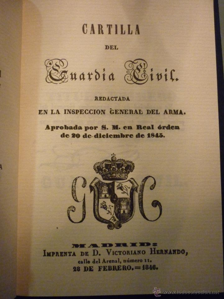 Cartilla del guardia civil 28 febrero 1846 fa comprar for Ministerio del interior guardia civil