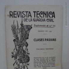Militaria: REVISTA TECNICA DE LA GUARDIA CIVIL. MARZO 1935. Lote 49986228