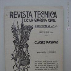 Militaria: REVISTA TECNICA DE LA GUARDIA CIVIL. MAYO 1935. Lote 49986237