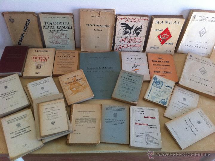 LOTE DE DOCUMENTACIÓN MILITAR Y DEL EJERCITO. MANUAL DE SARGENTO, ARTILLERÍA, INFANTERÍA.36 UNIDADES (Militar - Libros y Literatura Militar)