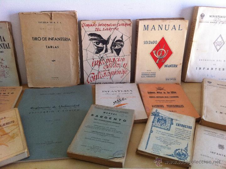 Militaria: LOTE DE DOCUMENTACIÓN MILITAR Y DEL EJERCITO. MANUAL DE SARGENTO, ARTILLERÍA, INFANTERÍA.36 UNIDADES - Foto 4 - 50032540