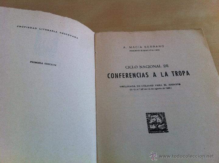 Militaria: LOTE DE DOCUMENTACIÓN MILITAR Y DEL EJERCITO. MANUAL DE SARGENTO, ARTILLERÍA, INFANTERÍA.36 UNIDADES - Foto 103 - 50032540