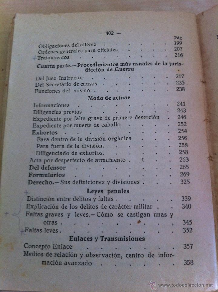Militaria: LOTE DE DOCUMENTACIÓN MILITAR Y DEL EJERCITO. MANUAL DE SARGENTO, ARTILLERÍA, INFANTERÍA.36 UNIDADES - Foto 129 - 50032540