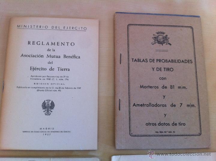 Militaria: LOTE DE DOCUMENTACIÓN MILITAR Y DEL EJERCITO. MANUAL DE SARGENTO, ARTILLERÍA, INFANTERÍA.36 UNIDADES - Foto 175 - 50032540