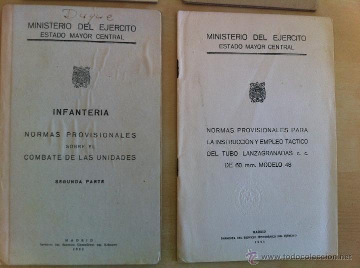 Militaria: LOTE DE DOCUMENTACIÓN MILITAR Y DEL EJERCITO. MANUAL DE SARGENTO, ARTILLERÍA, INFANTERÍA.36 UNIDADES - Foto 176 - 50032540