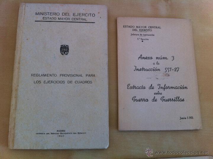 Militaria: LOTE DE DOCUMENTACIÓN MILITAR Y DEL EJERCITO. MANUAL DE SARGENTO, ARTILLERÍA, INFANTERÍA.36 UNIDADES - Foto 177 - 50032540