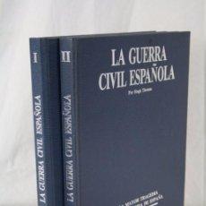 Militaria: 2 LIBROS / TOMOS LA GUERRA CIVIL ESPAÑOLA. HUGH THOMAS - ED. DIARIO 16, AÑO 1976. Lote 50145830