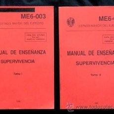Militaria: MANUAL DE ENSEÑANZA. SUPERVIVENCIA (TOMOS I Y II / EXCLUSIVO PARA USO INTERNO DE LAS FUERZAS ARMADAS. Lote 39614626