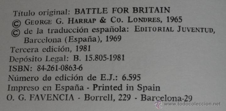 Militaria: La batalla de Inglaterra - Ronald W.Clark - Editorial Juventud (1981) ¡Impecable! - Foto 3 - 50343742