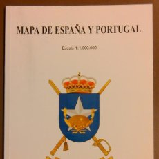 Militaria: MAPA DE ESPAÑA Y PORTUGAL. CENTRO GEOGRAFICO DEL EJERCITO. ESCALA 1:1000000. 24 CM. 56 PÁG.. Lote 50668898