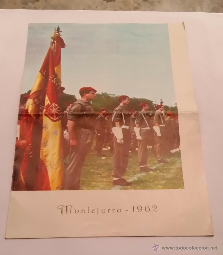 REQUETES EN MONTEJURRA,PROGRAMA TRIPTICO DE 1962 (Militar - Libros y Literatura Militar)