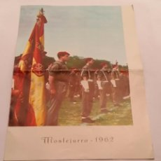 Militaria: REQUETES EN MONTEJURRA,PROGRAMA TRIPTICO DE 1962. Lote 50734156