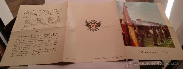 Militaria: REQUETES EN Montejurra,Programa TRIPTICO DE 1962 - Foto 3 - 50734156