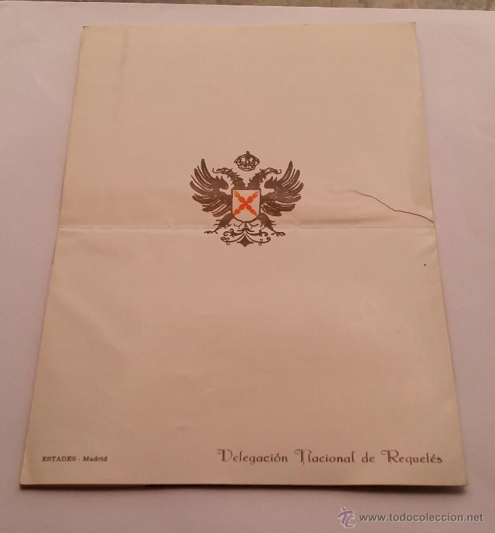 Militaria: REQUETES EN Montejurra,Programa TRIPTICO DE 1962 - Foto 4 - 50734156