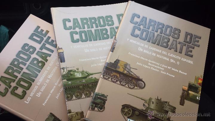 MILITAR LIBRO CARROS DE COMBATE UN SIGLO DE HISTORIA 3 VOLÚMENES COMPLETO 750 PAGS LUJO NUEVO (Militar - Libros y Literatura Militar)