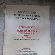 Militaria: ASOCIACION MUTUA BENEFICA DE LA ARMADA. MADRID 1949. Lote 51391666