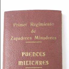 Militaria: PRIMER REGIMIENTO DE ZAPADORES MINADORES. PUENTES MILITARES. AÑO 1920. Lote 51476454