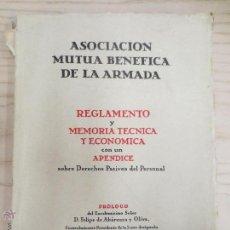 Militaria: ASOCIACION MUTUA BENEFICA DE LA ARMADA. MADRID 1949. Lote 51597293