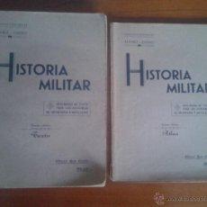 Militaria: HISTORIA MILITAR - AURELIANO ALVAREZ Y JUAN DE CASTRO - TEXTO Y ATLAS. Lote 51794036