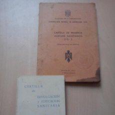 Militaria: CARTILLA PRIMERS AUXILIOS SANITARIOS DG2 1969/ CARTILLA DIVULGACION Y EDUCACION SANITARIA 1966. Lote 52804022