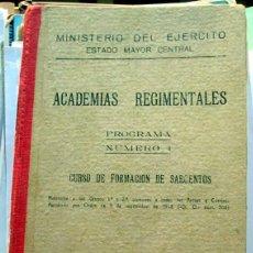 Militaria: CURSO DE FORMACION DE SARGENTOS -1958. Lote 53061697