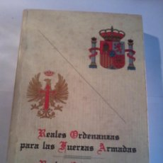 Militaria: REALES ORDENANZAS PARA LAS FUERZAS ARMADAS REALES ORDENANZAS DEL EJÉRCITO DE TIERRA. EST6B2. Lote 53087744