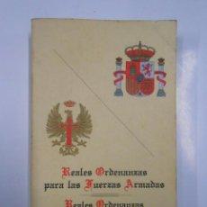 Militaria: REALES ORDENANZAS PARA LAS FUERZAS ARMADAS REALES ORDENANZAS DEL EJÉRCITO DE TIERRA. TDK157. Lote 114254138