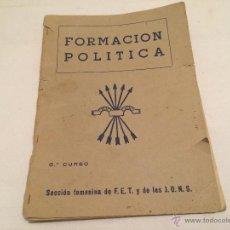 Militaria: ANTIGUO LIBRO DE FALANGE, SECCION FEMENINA. FORMACION POLITICA. Lote 53326994