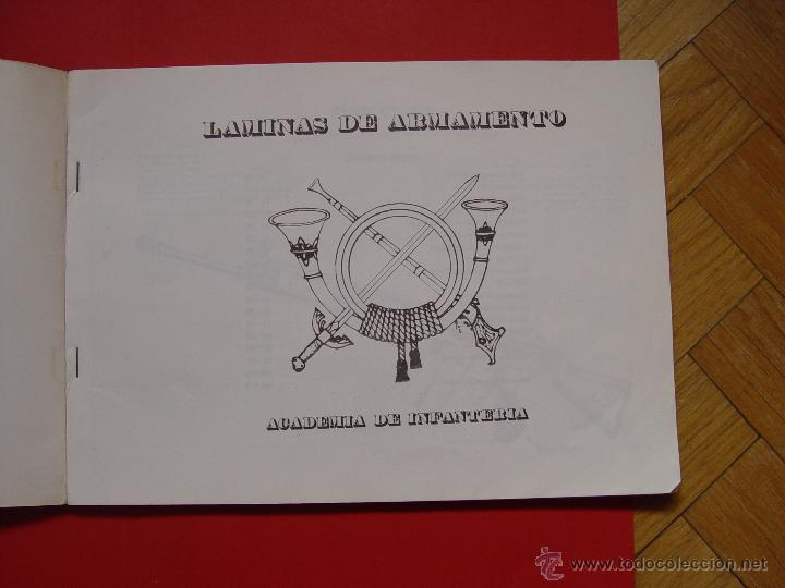 Militaria: Libro LÁMINAS DE ARMAMENTO (Academia Infantería, 1970-80's) Descatalogado ¡ORIGINAL! - Foto 3 - 53495129