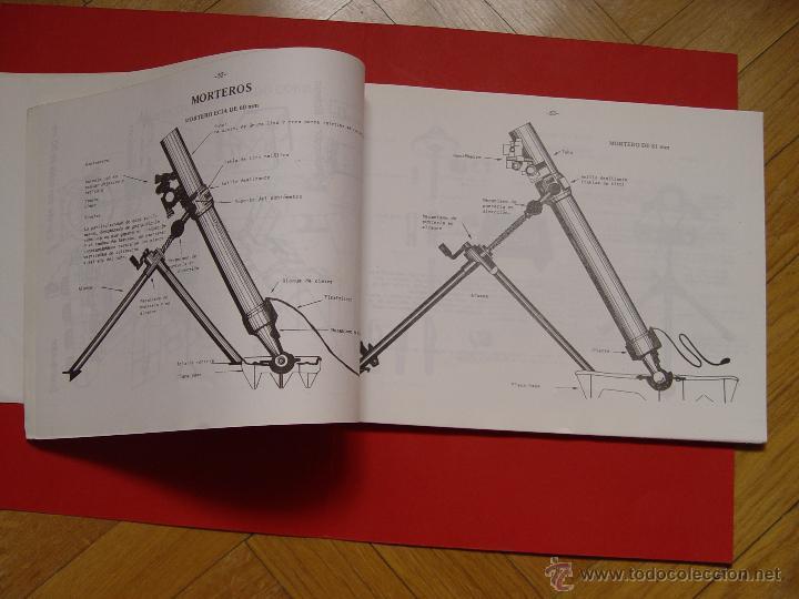 Militaria: Libro LÁMINAS DE ARMAMENTO (Academia Infantería, 1970-80's) Descatalogado ¡ORIGINAL! - Foto 5 - 53495129