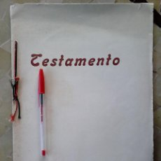 Militaria: MURCIA, TESTAMENTO OLÓGRAFICO, JOSE ANTONIO PRIMO DE RIVERA Y SAENZ DE HEREDIA, 1936, FALANGE, FET,. Lote 53501384