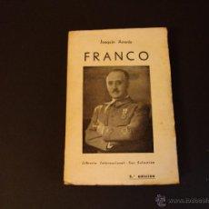 Militaria: LIBRO MILITAR GUERRA CIVIL FALANGE, FRANCO, BURGOS 1937. Lote 53664748