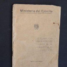Militaria: REGLAMENTO PARA LA INSTRUCCION TECNICA DE LAS PANADERIAS DE CAMPAÑA / MINISTERIO DEL EJERCITO 1943. Lote 53769850